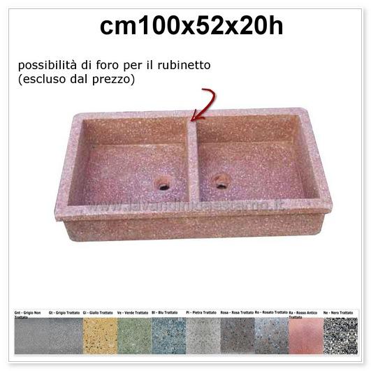 lavello da giardino acquaio in graniglia levigata 114