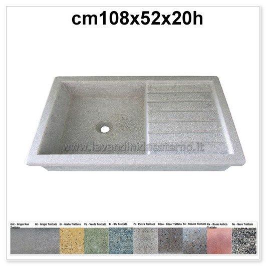 Lavabo In Ceramica Per Esterno.Lavello Da Giardino Acquaio In Graniglia Levigata 71