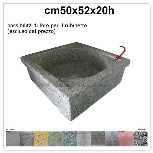 lavello da giardino pilozzo in graniglia levigata 219