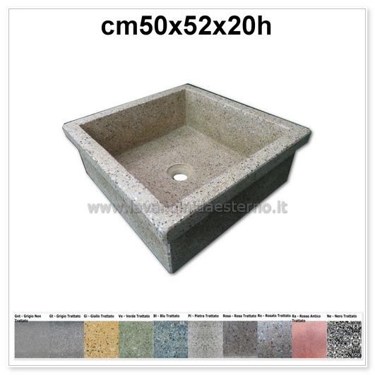 lavello da giardino pilozzo in graniglia levigata 231