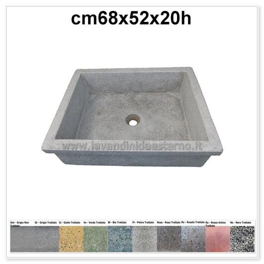 lavello da giardino pilozzo in graniglia levigata 240