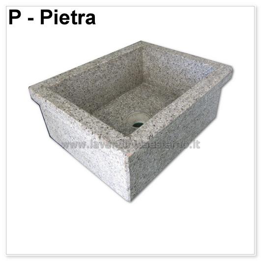 Lavello da giardino pilozzo in graniglia levigata 254 - Vasche in pietra da giardino ...