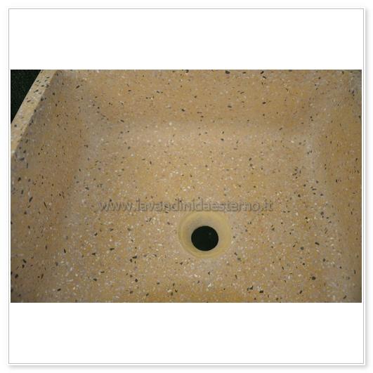 lavello in graniglia per esterno