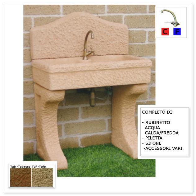 Lavandino da esterno nonna lucia aq9050rok lavandini da - Lavandino in pietra per esterno ...