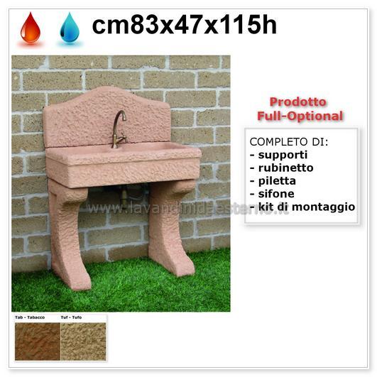 Lavandino da esterno nonna lucia aq9050rok con kit - Lavandino esterno ...