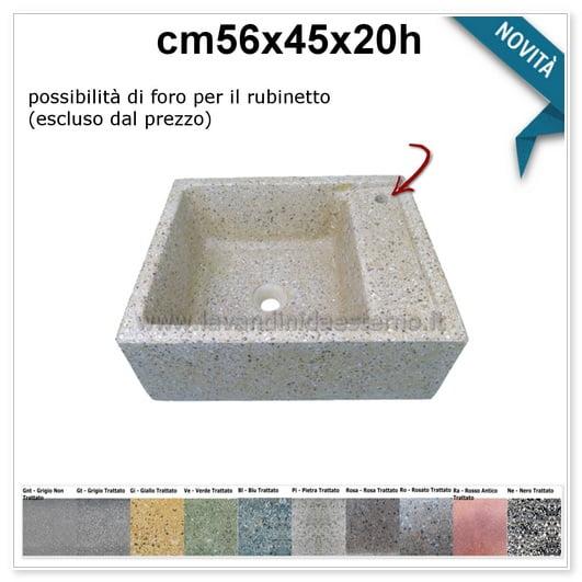 lavello da giardino pilozzo in graniglia colorata 291