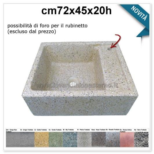 lavello da giardino pilozzo in graniglia colorata 292