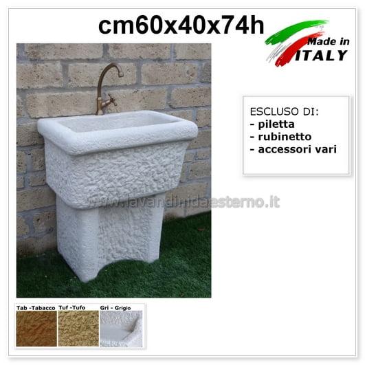 Lavatoio Da Esterno Roma.Lavatoio Da Esterno Dordogna Lav3140 1 Vasca Cm60
