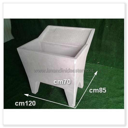 Lavatoio lavanderia una vasca grigia varie misure - Lavatoio esterno ...