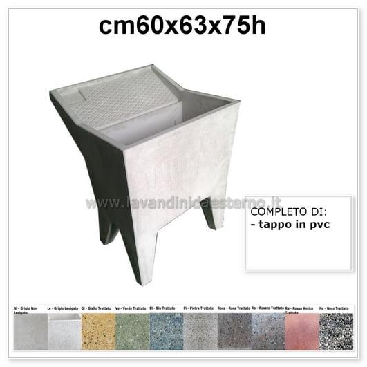 Lavatoio da esterno una vasca 22 in graniglia levigata for Lavatoio esterno