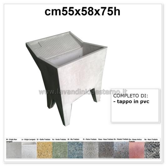 lavatoio da esterno una vasca 4 in graniglia levigata grigio 2