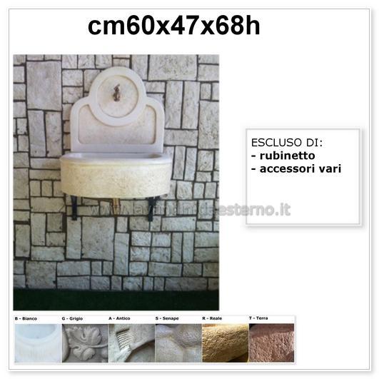 Lavandino per esterno bordeaux la006pf004 in cemento for Lavandino per esterno