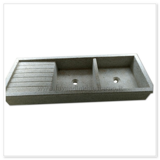 lavello cucina acquaio in graniglia levigata 67