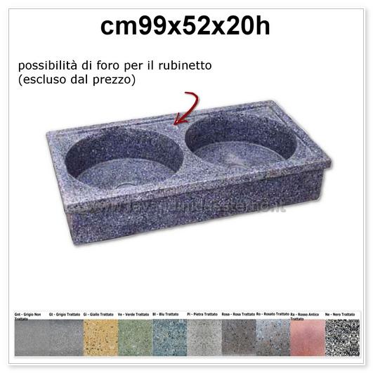 lavelli da esterno acquaio in graniglia levigata 61014878
