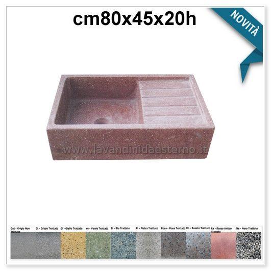 lavelli per esterno acquaio in graniglia colorata 61014141