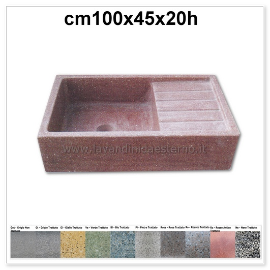 lavello cucina acquaio in graniglia levigata 192