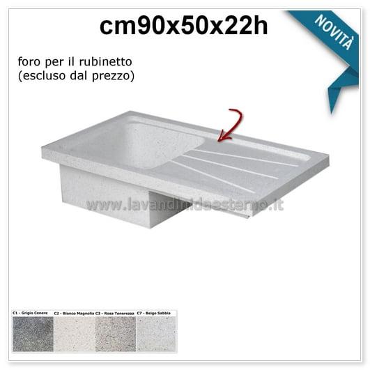lavello cucina acquaio in graniglia levigata 579pl631
