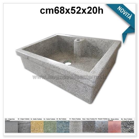 lavello cucina acquaio in graniglia levigata 821
