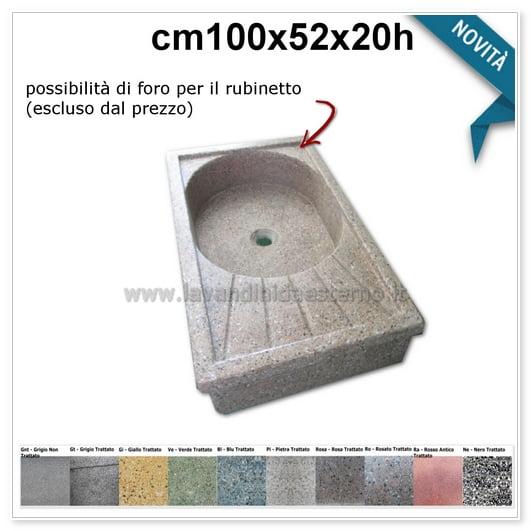 lavello da giardino acquaio in graniglia levigata 691