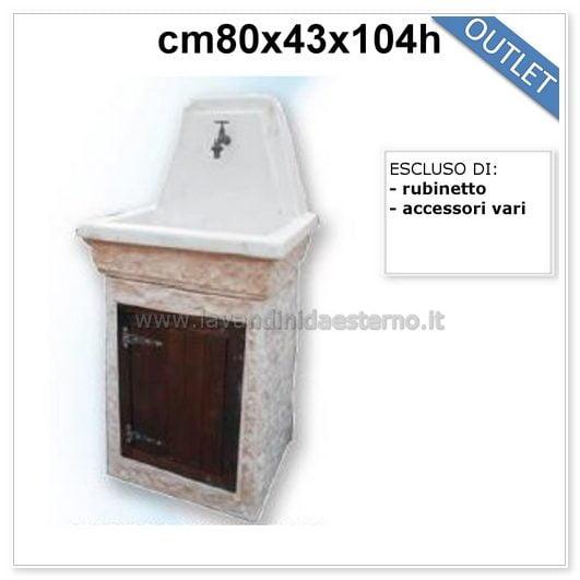 lavabo da esterno outlet mobiletto quadrato 83393