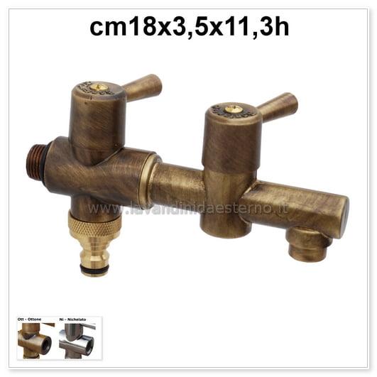 valvola raccordo portagomma e rubinetto in ottone rucomp01