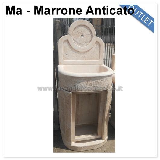 Lavabo da esterno outlet mobiletto tondo 83394 con sportello - Mobiletto da esterno ...