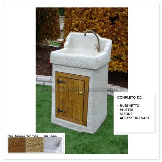 lavabo da esterno nonno giovanni aq8300rok gri