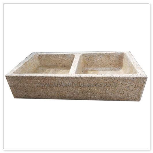 Lavello da giardino acquaio in graniglia levigata 182 - Lavelli cucina in pietra ...