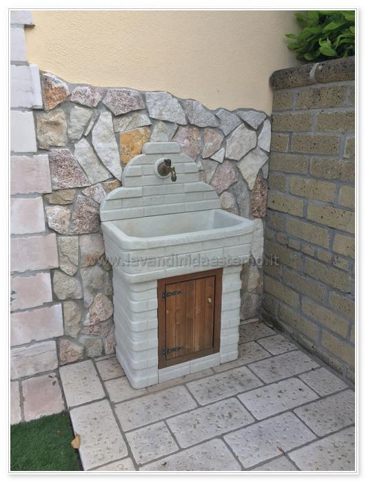 lavabo da esterno in cemento