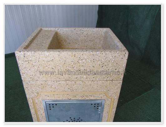 lavabo in pietra da esterno
